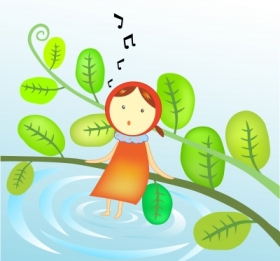 little girl singing for blog